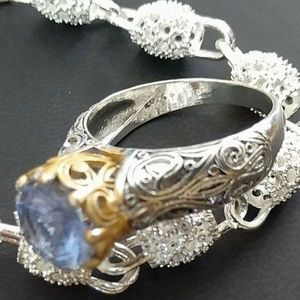 8+ TCW TOPAZ ~ 925 STAMPED STERLING SILVER